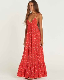 1 Flamed Out Maxi Dress Red JD22PBFL Billabong