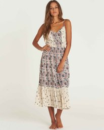 0 Meadow Dew Midi Dress Beige JD23PBME Billabong