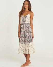 1 Meadow Dew Midi Dress Beige JD23PBME Billabong