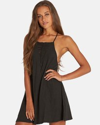 1 Ray Me Swing Mini Dress Black JD24PBRA Billabong