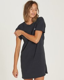 0 Last Quarter Shirt Dress Black JD24QBLA Billabong