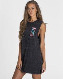 1 No Time Muscle Tee Shirt Dress Black JD28PBNO Billabong