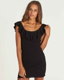 1 No Frills Bodycon Mini Dress Black JD34PBNO Billabong