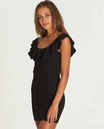 2 No Frills Bodycon Mini Dress Black JD34PBNO Billabong