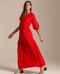 1 One Sided Maxi Dress Red JD40PBON Billabong