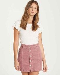 0 Push My Buttons Cord Mini Skirt Purple JK10QBPU Billabong