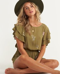 4 Heavenly Fields Romper Green JN01QBHE Billabong