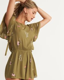 3 Heavenly Fields Romper Green JN01QBHE Billabong