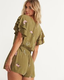 1 Heavenly Fields Romper Green JN01QBHE Billabong