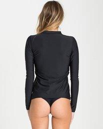 6 Core Loose Fit Long Sleeve Rashguard Black JR54QBCL Billabong