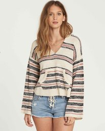 0 Baja Beach Hooded Sweater Beige JV01QBBA Billabong