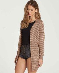 1 Worth It Cardigan Sweater Beige JV03PBWO Billabong