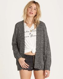 0 Luna Day Cardi Sweater Grey JV05LLUN Billabong