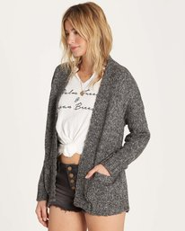 1 Luna Day Cardi Sweater Grey JV05LLUN Billabong