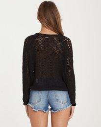 2 Sea Ya Soon Open Knit Sweater Black JV06PBSE Billabong
