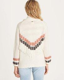 2 In Stitches Sweater White JV14LINS Billabong