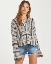 0 Baja Beach Hooded Sweater Beige JV14QBBA Billabong