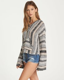 1 Baja Beach Hooded Sweater Beige JV14QBBA Billabong