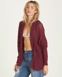 1 Shake Down Sweater Red JV22LSHA Billabong