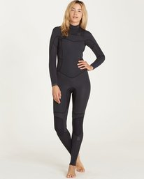 0 3/2 Synergy Chest Zip Fullsuit Black JWFULSC3 Billabong