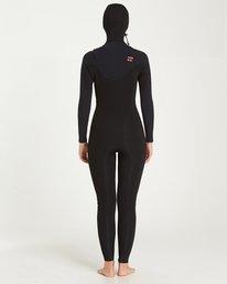 2 5/4 Furnace Carbon Hooded Chest Zip Fullsuit Black JWFUQBF5 Billabong