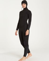 1 5/4 Furnace Carbon Hooded Chest Zip Fullsuit Black JWFUQBF5 Billabong