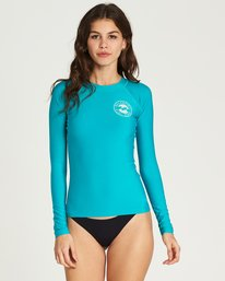 0 Core Performance Long Sleeve Rashguard Blue JWLYJCCL Billabong