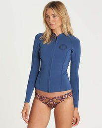 2 1mm Surf Capsule Peeky Jacket Blue JWSHNBSL Billabong