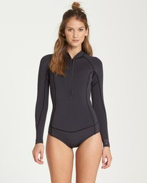 0 2mm Salty Dayz Long Sleeve Springsuit Black JWSPQBSA Billabong