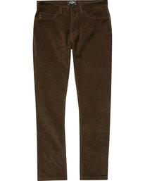 0 Boys' (2-7) Outsider Cord Pants Brown K316QBOU Billabong
