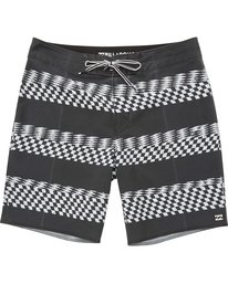 0 Sundays X Stripe Boardshorts Black M123QBSS Billabong