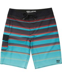 0 All Day X Stripe Boardshorts Blue M125NBAS Billabong