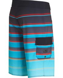 2 All Day X Stripe Boardshorts Blue M125NBAS Billabong
