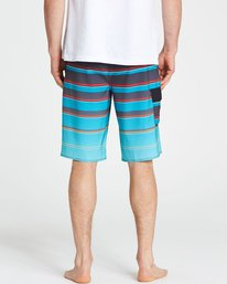 4 All Day X Stripe Boardshorts Blue M125NBAS Billabong