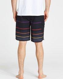 4 73 X Stripe Boardshorts Black M129NBSS Billabong