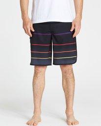 3 73 X Stripe Boardshorts Black M129NBSS Billabong