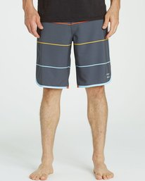 1 73 X Stripe Boardshorts Grey M138LSTX Billabong
