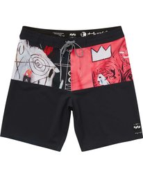 0 Men's New Flame X Boardshorts Pink M196PBNF Billabong