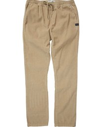 0 Larry Layback Cord Pant Grey M312QBLC Billabong