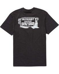 1 Support Tee Black M404PBSU Billabong