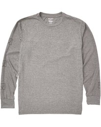 0 Stacked Long Sleeve Tee Grey M405QBST Billabong