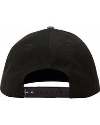 3 All Day Snapback Hat Black MAHTLADS Billabong