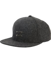 0 All Day Heather Snapback Hat Black MAHTLAHS Billabong