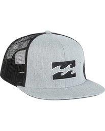 2 All Day Trucker Hat Grey MAHWNBAR Billabong