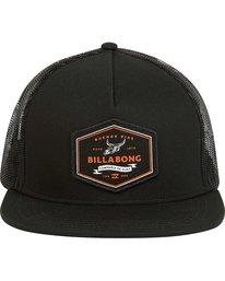 1 Flatwall Trucker Hat Black MAHWPBFW Billabong