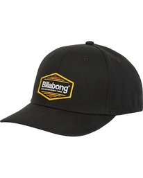 0 Walled Stretch Hat Black MAHWPBWD Billabong