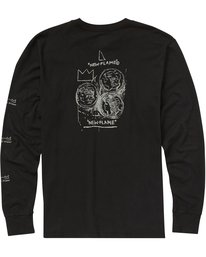 1 Men's New Flame Long Sleeve Tee Black MT43PBNF Billabong