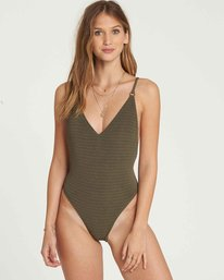 1 No Hurry One Piece Swim Green X109QBNO Billabong