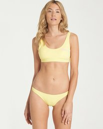 3 Reissue Tanga Bikini Bottoms Yellow XB53NBRE Billabong