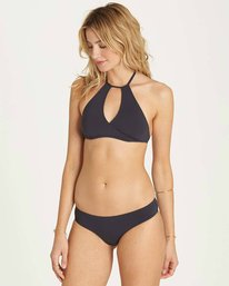 2 Sol Searcher High Neck Bikini Top Black XT01MSOL Billabong